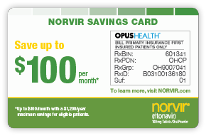 NORVIR Savings Card; Copay